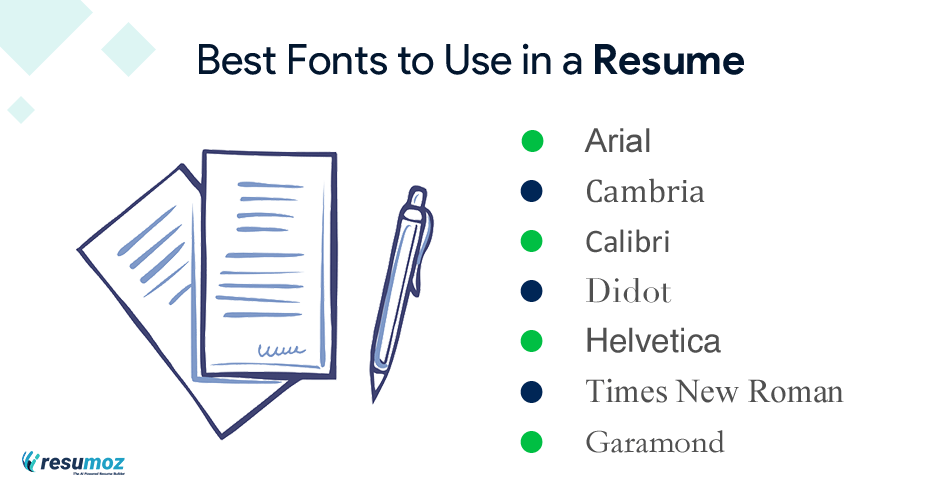 ats friendly resume fonts
