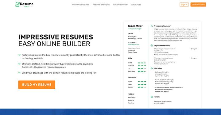 Resume Build Online Builder