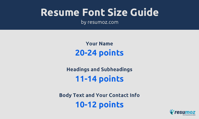 Perfect Resume Font Sizes