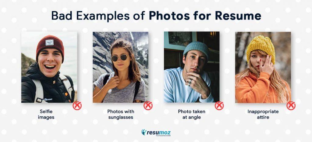 bad resume photos examples