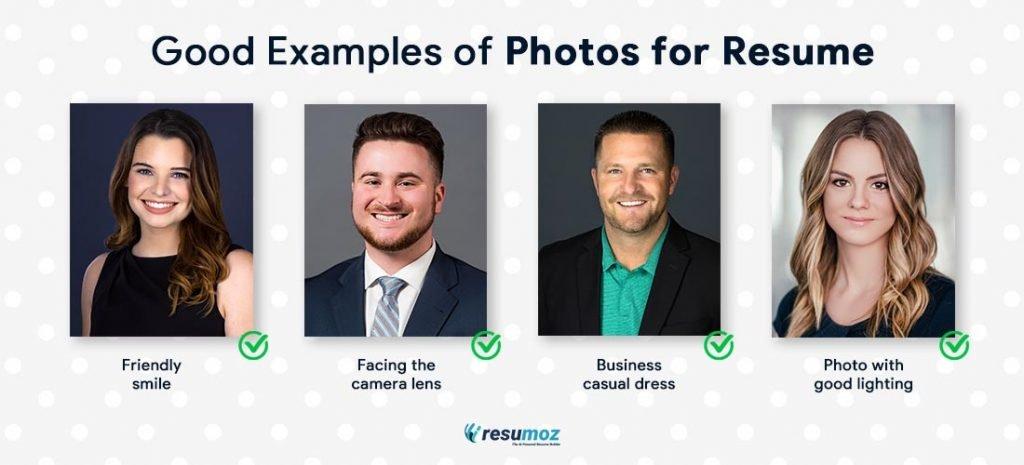good resume photos examples