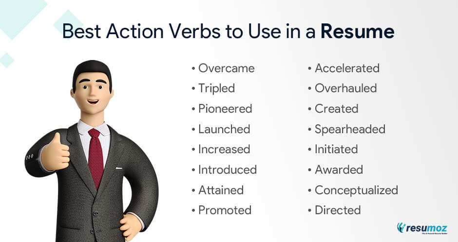 best action verbs to use in a resume