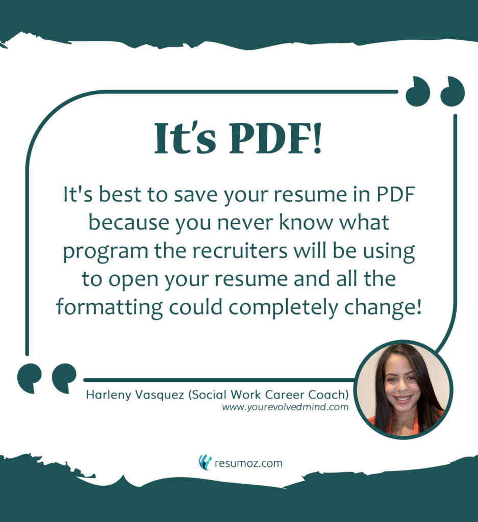 harleny talks about why pdf resume file format is the best