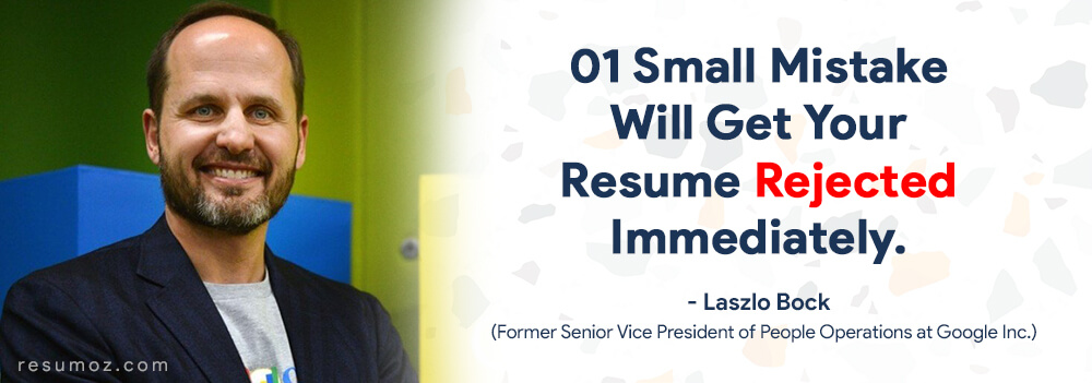 former google vice president describes the importance or resume proofreading